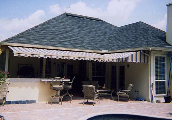 Boree Retractable Awnings for pool patio areas on hot summer days